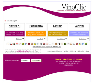 VinoClic - Wine & Food Advertising Network