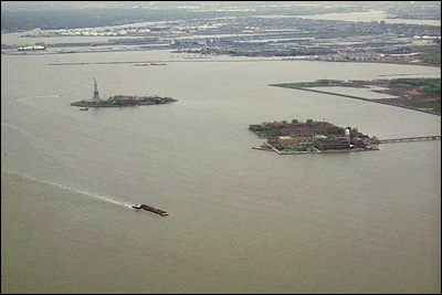 Baia New York, Ellis e Liberty Island